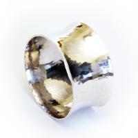 napkin ring, hammered, round