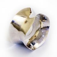 napkin ring, hammered, anticlastic