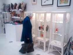 someone looking at the jewellery displays!
